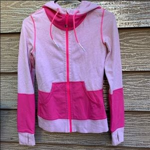 Lululemon pink zip up hoodie jacket
